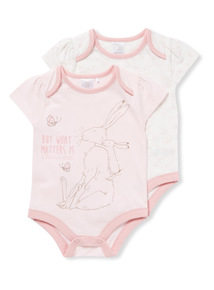 2 Pack Pink Guess How Much I Love You Bodysuits (Newborn-24 months)