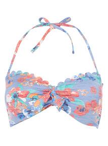 Floral Bandeau Bikini Top
