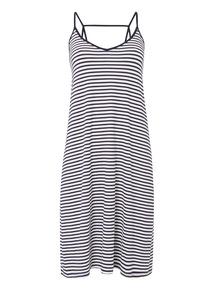 Navy Strappy Nautical Stripe Dress