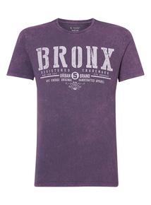 Purple Bronx Acid Wash Tee