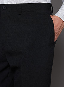 Black Panama Classic Trouser