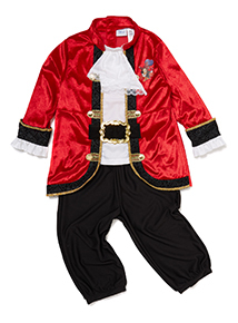 Boys Multicoloured Captain Hook Costume (3-10 years)