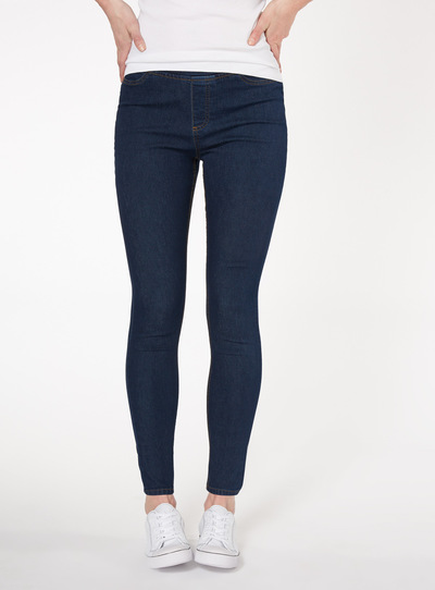 Dark Denim Elasticated Waist Jeggings