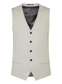 Cream Cotton Waistcoat