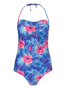 Floral Bandeau Tummy Control Swimsuit