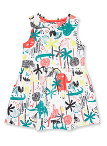 Multicoloured Safari Printed Dress (9 months-6 years)