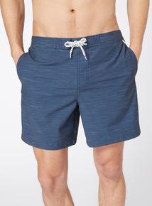 Navy Printed Board Shorts