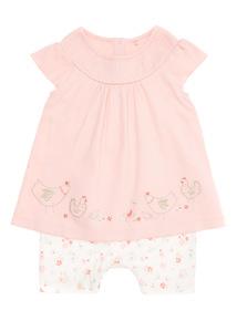 Pink Little Hen Set (0 - 12 months)