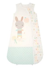 Unisex Cream Bunny Sleeping Bag (0-24 months)