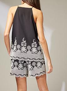 Premium Monochrome Embroidered Camisole