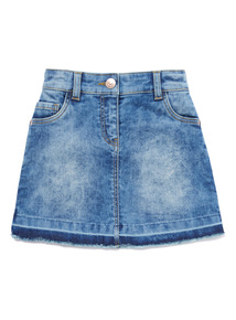 Denim Faded Wash Skirt (3-14 years)