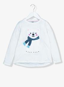 White Polar Bear Long Sleeve T-Shirt (9 Months - 6 Years)