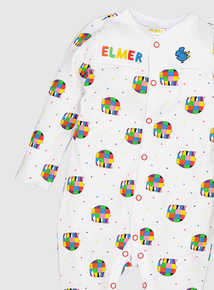 Elmer Multicoloured Sleepsuit (0-24 Months)