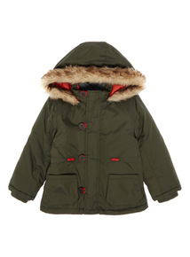 Boys Khaki 3 in 1 Coat With Fleece (9 months - 5 years)
