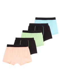 Boys Multicoloured Trunks 5 Pack (2 - 12 years)