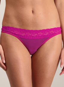 Multicoloured Comfort Lace Thong 5 Pack