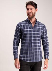 Blue Check Pure Cotton Classic Button-Up Shirt