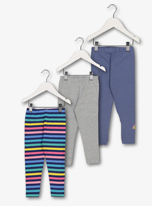 Multicoloured Rainbow Leggings 3 Pack (9 months-6 years)