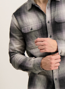 Grey Ombre Check Shirt