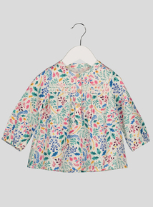 Multicoloured Floral Top with Smock Detail (0-24 months)