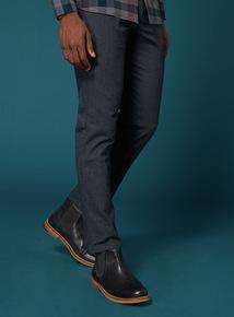 Premium Blue Slim Leg Flannel Chino