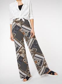 Bohemian Print Flare Trousers