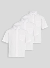 Girls White Bionic Cotton School Shirts 3 Pack (3-12 years)