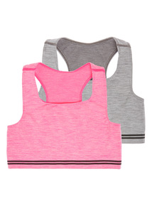 Multicoloured Seam Free Crop Tops 2 Pack (4 - 14 years)