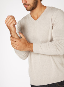 Stone V Neck Jumper