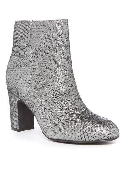 Jacquard Block Heel Boot