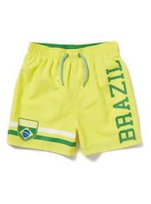 Yellow World Cup Brazil Swim Shorts (3-12 years)
