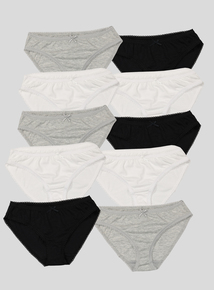 Multicoloured Briefs 10 Pack (5 - 14 Years)