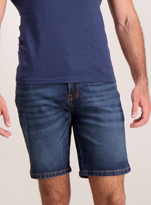 Blue Midwash Denim Shorts
