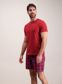 Red & Navy Short Pyjamas