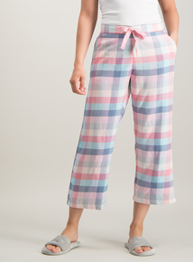 c402b554664c Pink Woven Check Pyjama Bottoms