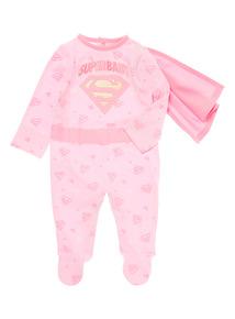 Pink Superbaby Sleepsuit (0-12 months)