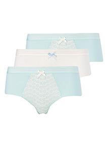 3 Pack Daisy Lace Shorts