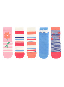 Multicoloured Patterned Socks 5 Pack