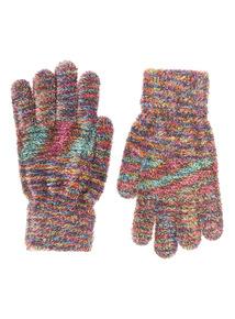 Multicoloured Energie Super Fluffy Gloves