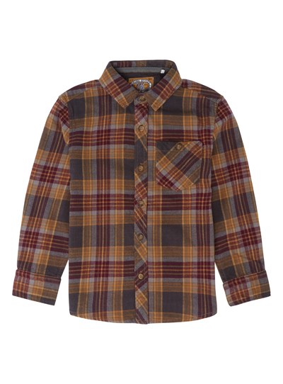 6a34a980d90 SKU: PH2 PF BROWN AND TABACCO BRUSHED CHECK SHIRT:Brown