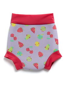 Pink Fruit Print Nappy Cover (0-3 years)