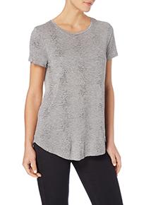 Gok Grey Metallic Print T-shirt