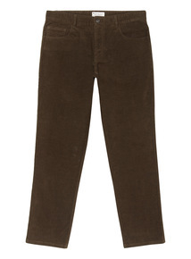 Khaki Straight Fit Cords With Stretch