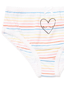 10 Pack Multicoloured Kitty Cat Briefs (2-12 years)