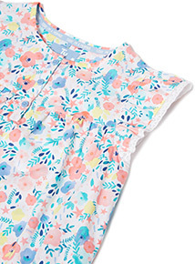 Multicoloured Woven Floral Pyjamas (1-12 years)