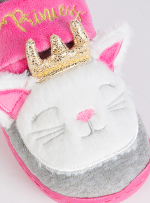 Pink Cat Novelty Slippers (4 infant - 12 child)