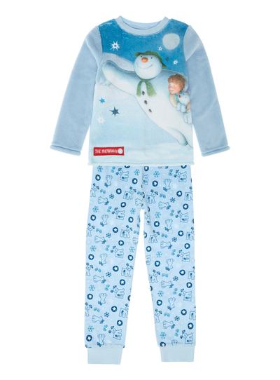Kids Boys Blue Snowman Pyjamas 9 Months 6 Years Tu