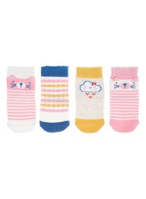 Crazy Cat Socks 4 Pack
