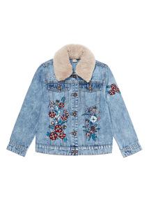 Denim Fur Lined Jacket (3 -14 years)