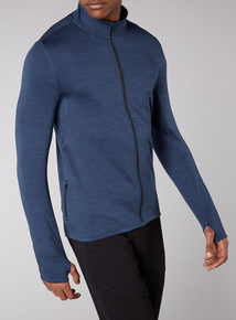 Admiral Indigo Lightweight Zip Through Jumper